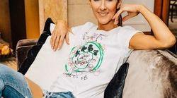 Le choix de ce t-shirt blanc avec lequel Céline Dion prend la pose n'a rien