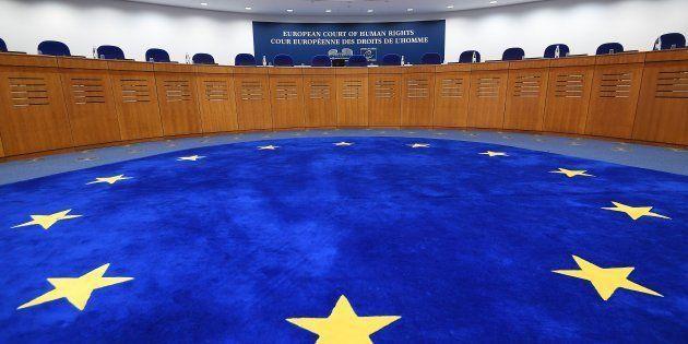 La Cour européenne des droits de l'Homme, à Strasbourg, en janvier