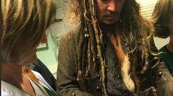 Jack Sparrow rend visite aux enfants de l'Institut