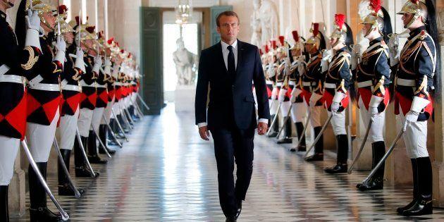 Emmanuel Macron à Versailles en juillet