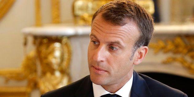 Les vacances se terminent aussi pour Emmanuel Macron (ici le 3 août à l'Élysée), qui lance son an