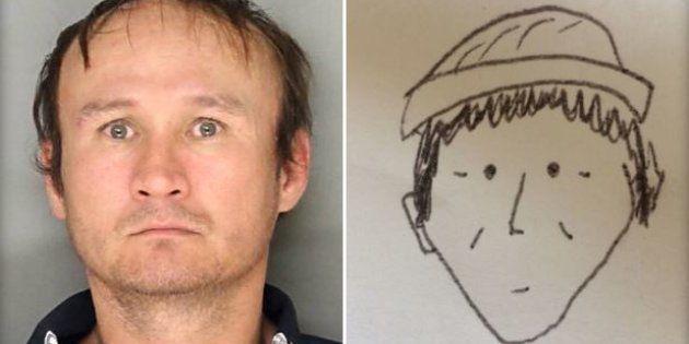 La photo du suspect Hung Phuoc Nguyen et son portrait