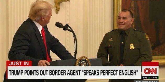 En présentant ce policier latino-américain, Trump a cru bon de préciser