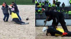 Trois personnes mises en examen après la décapitation de l'effigie de Macron à