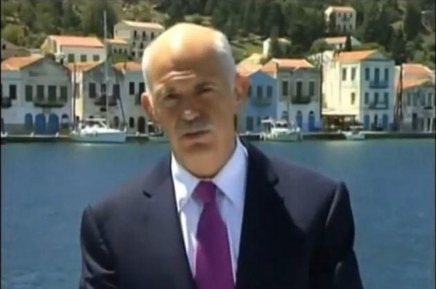 Georges Papandreou annonce en 2010 le premier prêt international à la