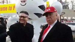 Les sosies de Donald Trump et Kim Jong-un refoulés du stade olympique à