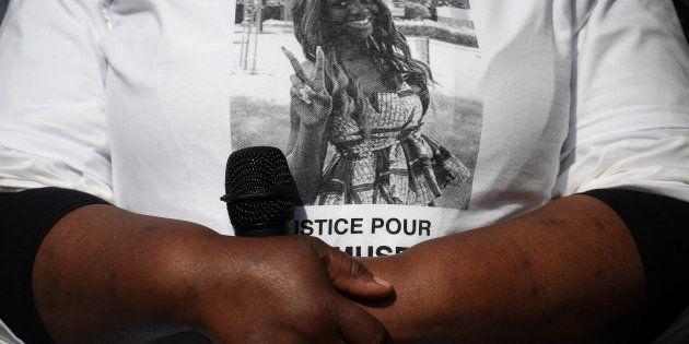 Un rassemblement en mémoire de Naomi Musenga à Strasbourg (Photo prise en mai 2018 à