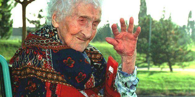 Jeanne Calment photographiée en 1997 à l'âge de 119