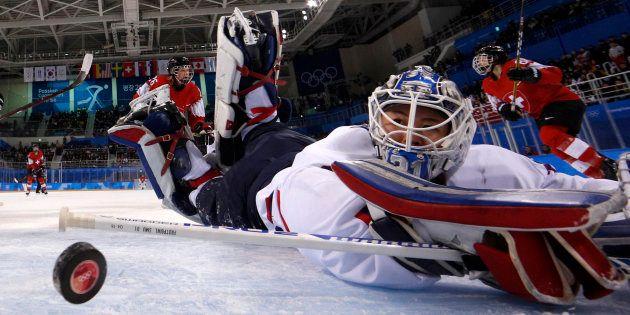 Jeux olympiques d'hiver 2018: l'équipe coréenne unifiée de hockey féminin s'incline pour sa