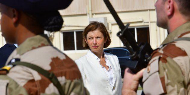 Florence Parly lors d'une visite sur une base navale française aux Émirats arabes unis le 25 septembre