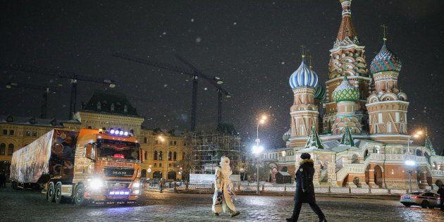 Le Kremlin à Moscou, le 18