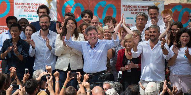 Comme en 2017 (notre photo), Jean-Luc Mélenchon réunit militants et cadres de la France insoumise à Marseille...