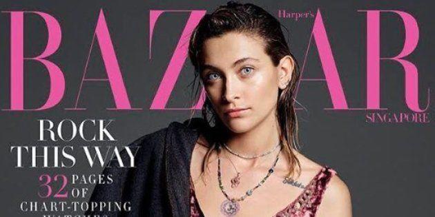 La couverture de Harpers Bazaar Singapour de septembre 2018, avec comme modèle Paris Jackson, a créé...