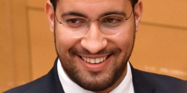 Alexandre Benalla devant une commission d'enquête du Sénat à Paris le 19 septembre