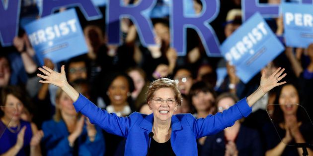 La démocrate Elizabeth Warren se positionne comme première adversaire de Trump (Photo d'illustration...