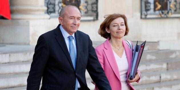 Gérard Collomb et Florence Parly à l'Elusée au mois de