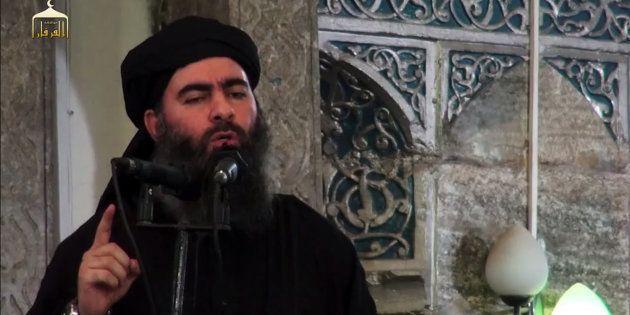 Une photo d'Abou Bakr al-Baghdadi prise en juillet