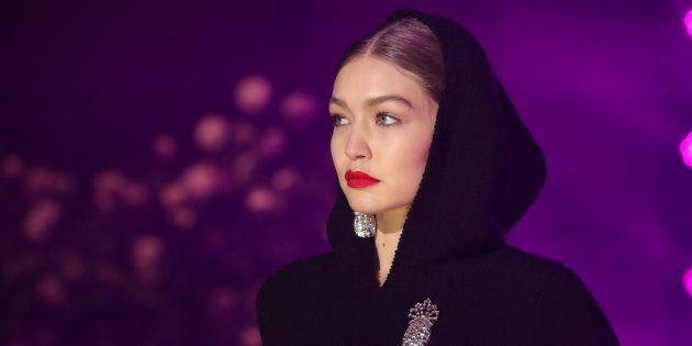 Gigi Hadid à la Fashion Week de New York le 11