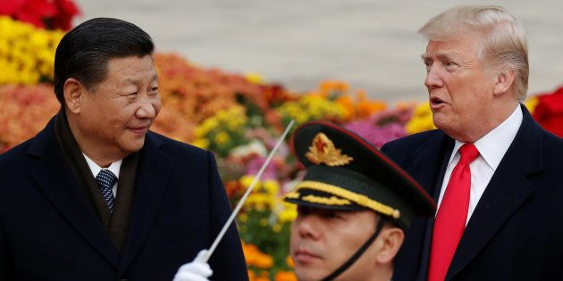 Donald Trump et Xi Jinping à Pékin, en novembre
