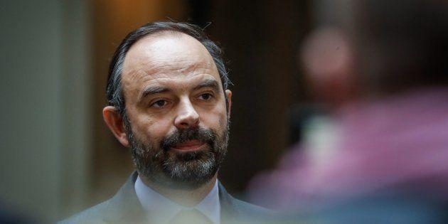 Édouard Philippe au siège de la préfecture de police de Paris le 24 décembre