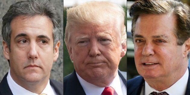 Photo d'illustration représentant Michael Cohen, Donald Trump et Paul