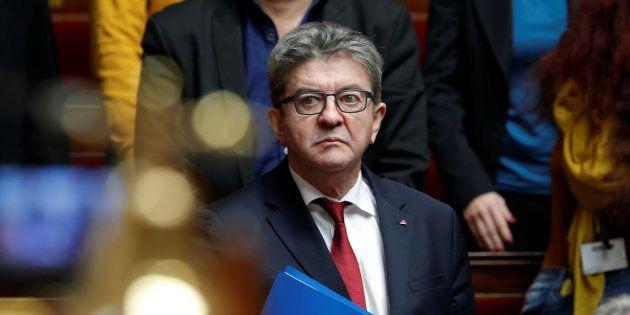 Jean-Luc Melenchon à l'Assemblée Nationale le 11