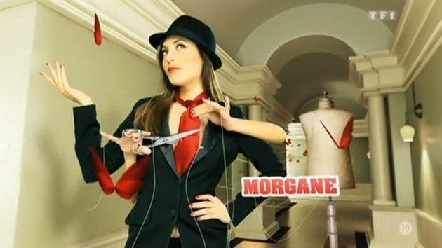 Morgane lors de sa présentation dans le générique de l'émission en