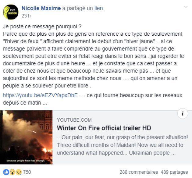 Maxime Nicolle veut alerter le gouvernement sur les risques de rebélion