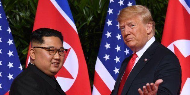 Donald Trump et Kim Jong Un lors de leur rencontre en juin