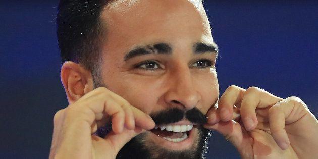 Adil Rami le 9 septembre au Stade de France pour la présentation de la Coupe du