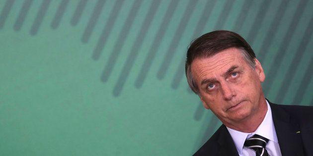 Jair Bolsonaro lors de sa cérémonie
