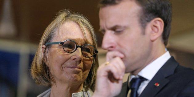 Le président Emmanuel Macron avec sa ministre de la Culture Françoise