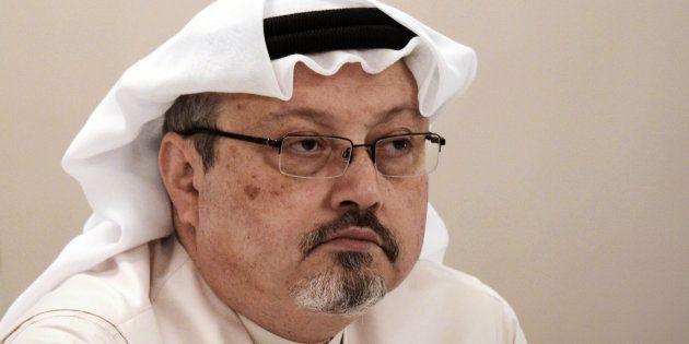 Jamal Khashoggi lors d'une conférence à Manama au Bahreïn le 15 décembre