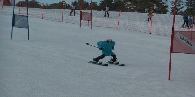 En parallèle des Jeux olympiques d'hiver2018, cette course de robots skieurs a tenu ses