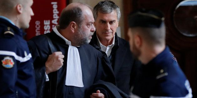 Jérôme Cahuzac et son avocat Me Eric