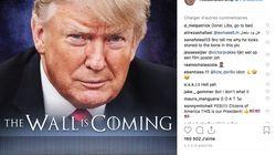 Cette fois, c'est pour vendre son mur que Trump s'imagine dans