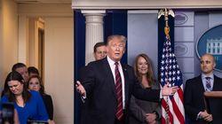 Trump apparaît pour la première fois dans la salle de presse de la Maison