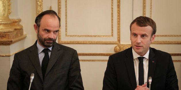 Edouard Philippe et Emmanuel Macron à l'Elysée en octobre