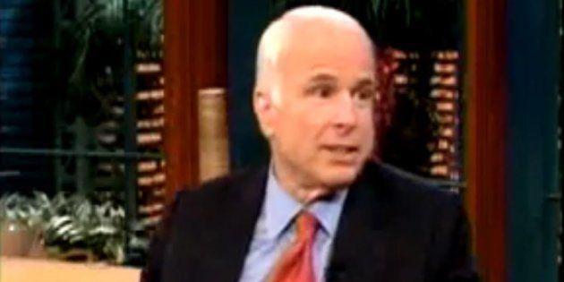 John McCain avait raconté en 2008 chez Jay Leno comment il a vécu sa défaite face à