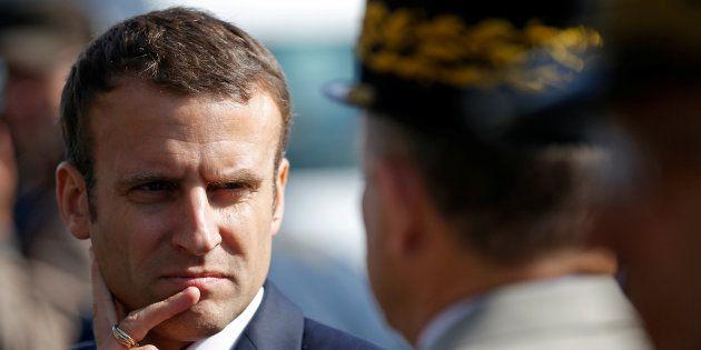 Emmanuel Macron sur la base de Crozon le 4