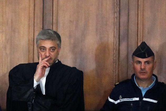 L'avocat de Jawad Bendaoud, Xavier Nogueras, au palais de justice de Paris le 24