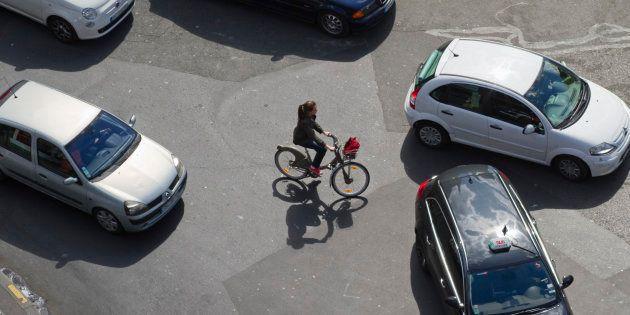 Ma bonne résolution, à vélo, c'est de rouler au milieu de la
