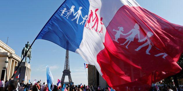 La Manif pour tous tente-t-elle de s'infiltrer chez les gilets jaunes? (photo d'illustration à Paris,...
