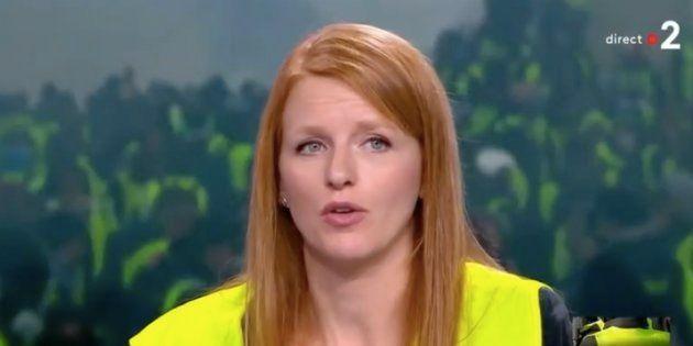 La gilet jaune Ingrid Levavasseur, ici sur le plateau de France 2, a finalement annoncé avoir refusé...