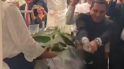 Le sabrage d'un champagne à 2000 dollars dans ce restaurant 3 étoiles a royalement