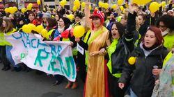 Des centaines de femmes gilets jaunes dans les rues pour donner une autre image du