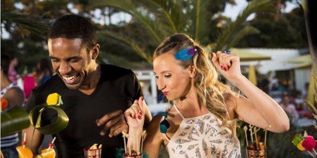 28 août 2015, Audrey Lamy et Loup-Denis Elion incarnant Cédric et Marion dans la série