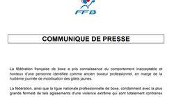 La Fédération française de boxe fustige le comportement