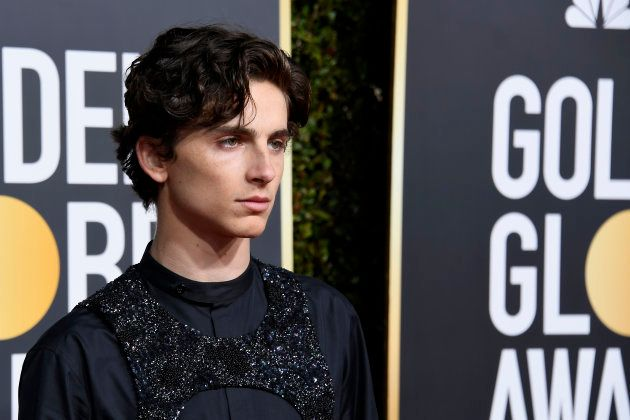Timothée Chalamet a osé une tenue singulière pour la cérémonie des Golden Globes