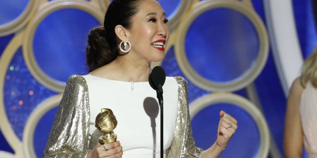 Soirée parfaite pour Sandra Oh, présentatrice acclamée et actrice récompensée pour son rôle dans la